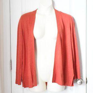 NWT Croft & Barrow Coral/Orange Cardigan